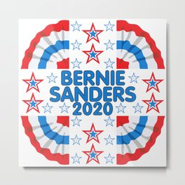 Bernie Sanders 2020 Red White Blue Banner Metal Print