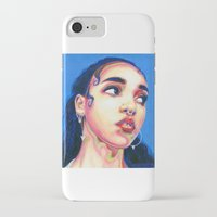 fka twigs iPhone & iPod Cases featuring Fka Twigs by Passion for Pencils
