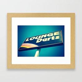 Lounge Darts Framed Art Print