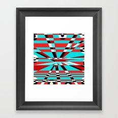 Grid Square TV Crazy Framed Art Print