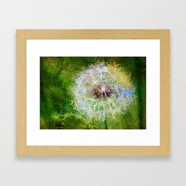 Metallic Dandelion Framed Art Print