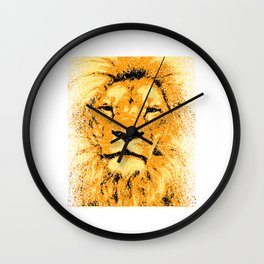 A Unique Cool Animal Design With A Nice Illustration Of A Lion King T-shirt Design Jungle Animal Wall Clock