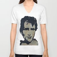 kerouac V-neck T-shirts featuring Jack Kerouac: Get On The Beat  by Emily Storvold