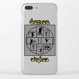 Dance Styles Clear iPhone Case