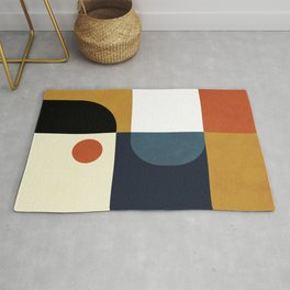 mid century abstract shapes fall winter 4 Rug