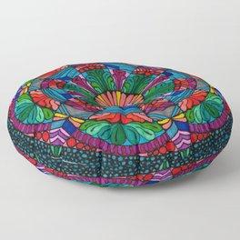 Mandala Daisy Floor Pillow