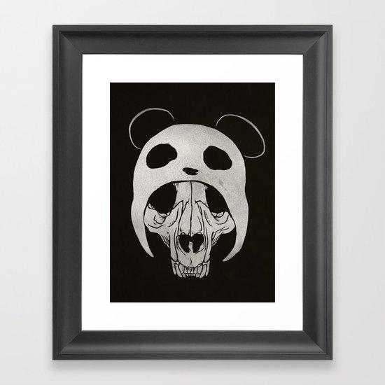 Panda Skull Framed Art Print