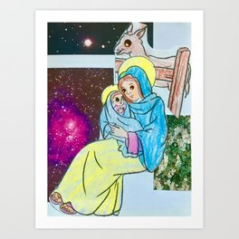 Virgin and Child Collage #2 [Cecilia Lee] Art Print
