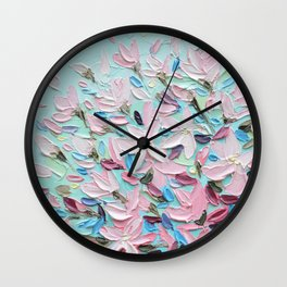 District  Blooms Wall Clock