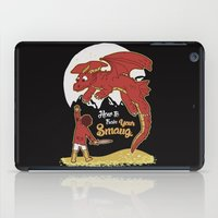 smaug iPad Cases featuring How to Train your Smaug! by Loku