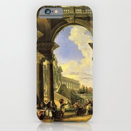 Giovanni Paolo Panini's Masterpiece: The Wedding at Cana, circa 1725 iPhone Case