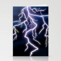 lightning Stationery Cards featuring lightning by Li-Bro