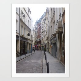Winding Parisian alley Art Print