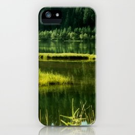 Fishing The Still Waters iPhone Case