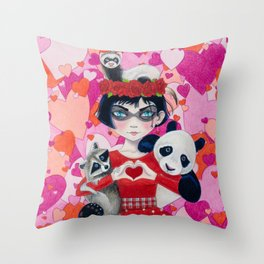 Love Bandits Throw Pillow