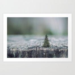 Tree by tree Art Print