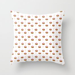 Ice Gems Pattern in Pink Throw Pillow