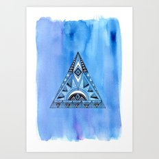 Geometric Triangle 1 Art Print