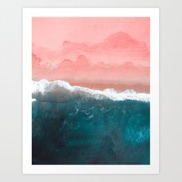 Turquoise Sea Pastel Beach II Art Print