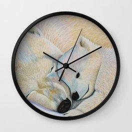 Polar Bear Love #2 Wall Clock