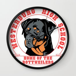 Westerburg High School Home of the Rottweilers Wall Clock