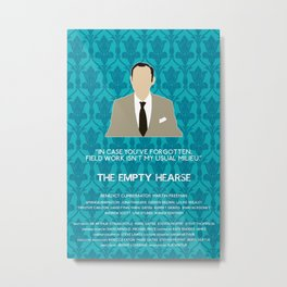 The Empty Hearse - Mycroft Holmes Metal Print