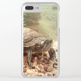 Red ear slider Clear iPhone Case