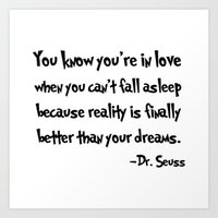 dr seuss Art Prints featuring -Dr. Seuss. by S J A E