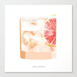 Cocktail Hour: Paloma Canvas Print