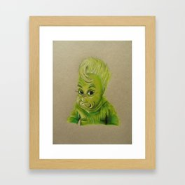 bb grinchy Framed Art Print