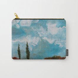 Cypress Trees encaustic wax painting by Seasons Kaz Sparks Carry-All Pouch