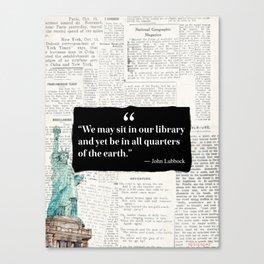 John Lubbock Statue of liberty vers Canvas Print
