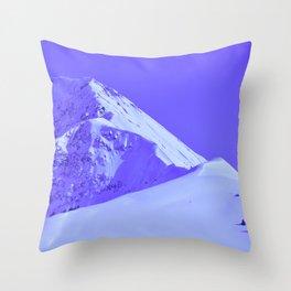 Winter Mountains in Periwinkle - Alaska Throw Pillow