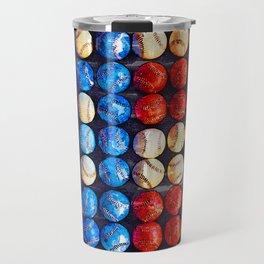 Baseball American Flag - For Baseball Lovers Travel Mug