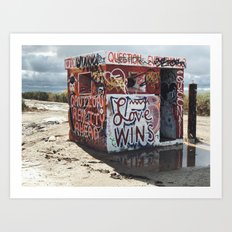 Welcome to Slab City Art Print
