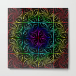 Psychedelic rainbow Metal Print