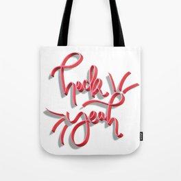 """Heck Yeah"" Hand Lettering Tote Bag"