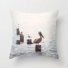 Gulf Coast Peace Throw Pillow