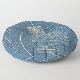 Acme Spherical Bomb vintage Blueprint Floor Pillow