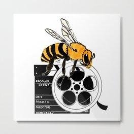 Hollywood Bee Metal Print