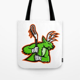 Stag Deer Lacrosse Mascot Tote Bag