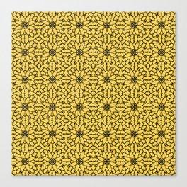 Primrose Yellow Lace Canvas Print