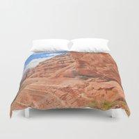 hiking Duvet Covers featuring Ruin Hiking Sedona, Arizona  by Ashli Truchon