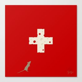 Swiss Cheese Flag Canvas Print