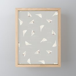 Paper Planes-Gray Framed Mini Art Print