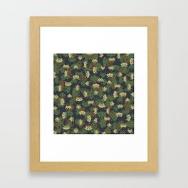 Invaded Camo WOODLAND Framed Art Print