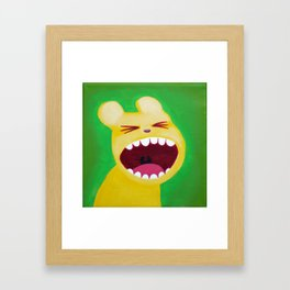 Yellow bear Framed Art Print