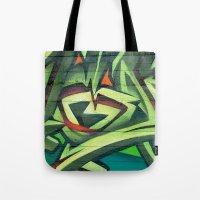 frames Tote Bags featuring Graffiti Frames by Maccio