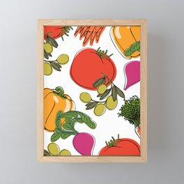 colorful vegetable medley Framed Mini Art Print