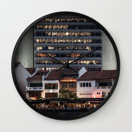 Architectual Antagonisms Wall Clock